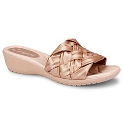 Tamanco para Pés Largos e Fascite Plantar - Rose - CAL7411-0004AM - Pé Relax Sapatos Confortáveis