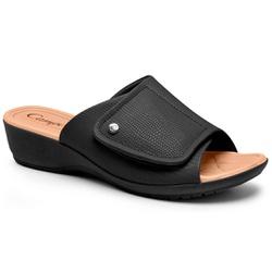 Tamanco Fascite Plantar e Esporão - Preto - CAL7417-0005PT - Pé Relax Sapatos Confortáveis