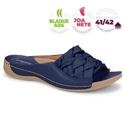 Tamanco para Joanete e Fascite Plantar - Azul - CAL7601-0006AZ - Pé Relax Sapatos Confortáveis