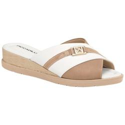 Tamanco Fascite e Esporão - Branco / Areia - PI458001BA - Pé Relax Sapatos Confortáveis