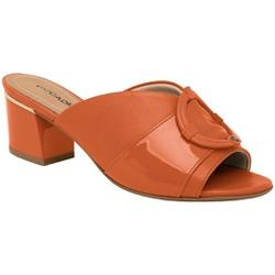 Tamanco Mule Confortável - Laranja - PI542095-4LRJ - Pé Relax Sapatos Confortáveis