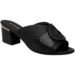 Tamanco Mule Confortável - Preto - PI542095-6PT - Pé Relax Sapatos Confortáveis