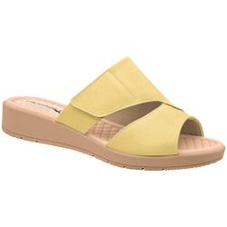 Tamanco Fascite e Esporão - Amarelo - PI561035AM - Pé Relax Sapatos Confortáveis