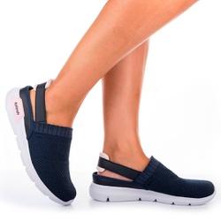 Mule em Knit para Esporão e Fascite - Marinho - KOK8486-0003MA - Pé Relax Sapatos Confortáveis