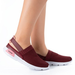 Mule em Knit para Esporão e Fascite - Cabernet - KOK8486-0004CA - Pé Relax Sapatos Confortáveis