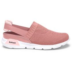 Mule em Knit para Esporão e Fascite - Rosa Chá - KOK8486-0002RC - Pé Relax Sapatos Confortáveis