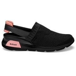 Mule em Knit para Esporão e Fascite - Preto - KOK8486-0005PT - Pé Relax Sapatos Confortáveis