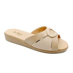 Tamanco Confortável para Esporão e Fascite - Bege - PR14071BG - Pé Relax Sapatos Confortáveis