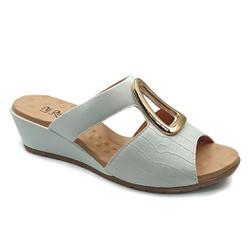 Tamanco Confortável - Branco - PR206084BR - Pé Relax Sapatos Confortáveis