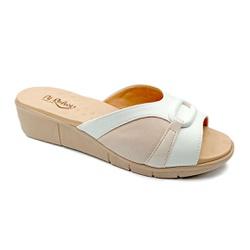 Tamanco Confortável para Fascite Plantar - Branco - PR585057BR - Pé Relax Sapatos Confortáveis