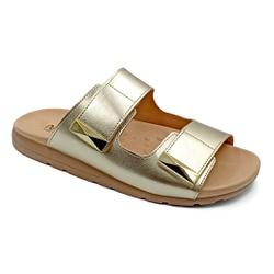 Tamanco para Fascite e Esporão - Champagne - PR622035CH - Pé Relax Sapatos Confortáveis