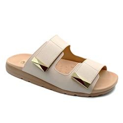 Tamanco para Fascite e Esporão - Off White - PR622035OF - Pé Relax Sapatos Confortáveis