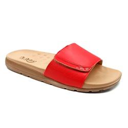 Tamanco Especial para Fascite e Esporão - Vermelho - PR622036VE - Pé Relax Sapatos Confortáveis