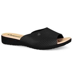 Tamanco Fascite Plantar - Preto - CAL6811PT - Pé Relax Sapatos Confortáveis