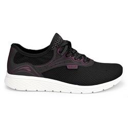 Tênis para Caminhada Feminino - Preto - KOK4063-0001PT - Pé Relax Sapatos Confortáveis