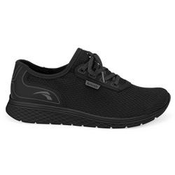 Tênis para Caminhada e Joanete - Preto / Sola Preta - KOK4064-0005PT - Pé Relax Sapatos Confortáveis