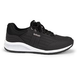 Tênis para Caminhada com Palmilha Massageadora - Preto - KOK5082-0001PT - Pé Relax Sapatos Confortáveis