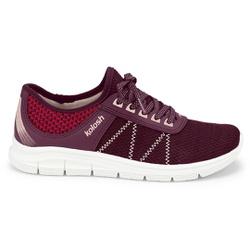 Tênis para Caminhar Feminino - Favo Syrah - KOK7001-0005FS - Pé Relax Sapatos Confortáveis