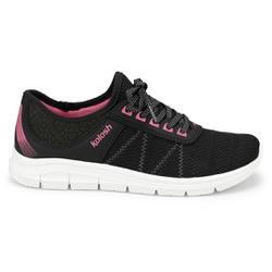 Tênis para Caminhar Feminino - Preto e Pink - KOK7001-0001PT - Pé Relax Sapatos Confortáveis