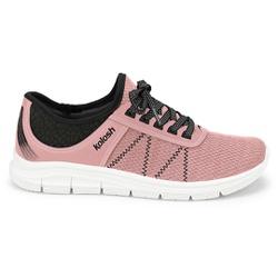 Tênis para Caminhar Feminino - Rosa e Preto - KOK7001-0003RP - Pé Relax Sapatos Confortáveis