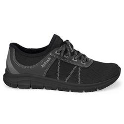 Tênis para Caminhar Feminino - Preto e Cinza - KOK7001-0006PC - Pé Relax Sapatos Confortáveis