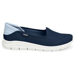 Tênis Casual Feminino - Azul - KOK7003-0003AZ - Pé Relax Sapatos Confortáveis