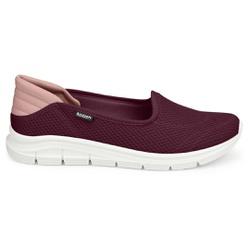 Tênis Casual Feminino - Figo - KOK7003-0004FG - Pé Relax Sapatos Confortáveis