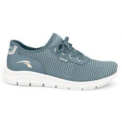 Tênis para Caminhar Feminino - Azul - KOK7005-0003AZ - Pé Relax Sapatos Confortáveis