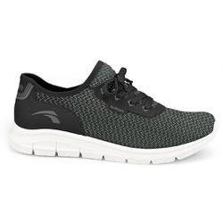 Tênis para Caminhar Feminino - Preto - KOK7005-0001PT - Pé Relax Sapatos Confortáveis