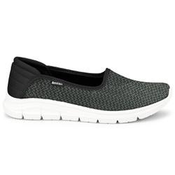 Tênis Feminino Casual - Preto - KOK7006-0001PT - Pé Relax Sapatos Confortáveis