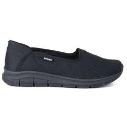 Tênis Feminino Casual - Preto - KOK7006-0004PT - Pé Relax Sapatos Confortáveis