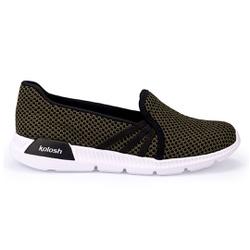 Tênis Feminino para Esporão e Fascite Plantar - Militar - KOK84820004MI - Pé Relax Sapatos Confortáveis