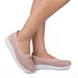Tênis Sapatilha com Palmilha Massageadora - Blush - KOK8712BS - Pé Relax Sapatos Confortáveis