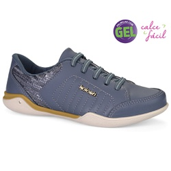 Tênis Confortável com Palmilha Gel - Hades Denim - KOC1603HD - Pé Relax Sapatos Confortáveis