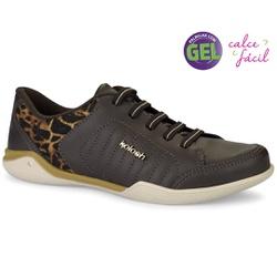 Tênis Confortável com Palmilha Gel - Hades Café - KOC1603HC - Pé Relax Sapatos Confortáveis
