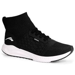 Tênis Meia Caminhada Confortável - Preto - KOK8321-0001PT - Pé Relax Sapatos Confortáveis