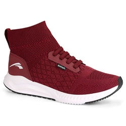 Tênis Meia Caminhada Confortável - Cabernet - KOK8321-0002CA - Pé Relax Sapatos Confortáveis