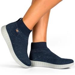Tênis para Esporão e Joanete Casual Feminino - Azul - CAL6151AZ - Pé Relax Sapatos Confortáveis