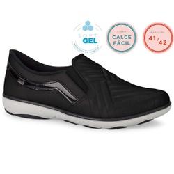 Tênis Casual para Esporão e Fascite Plantar - Preto - CAL6564-0007PT - Pé Relax Sapatos Confortáveis