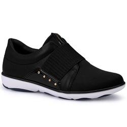 Tênis Casual para Esporão e Joanete - Preto - CAL6569-0002PT - Pé Relax Sapatos Confortáveis