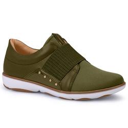 Tênis Casual para Esporão e Joanete - Militar - CAL6569-0005MI - Pé Relax Sapatos Confortáveis