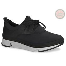Tênis para Joanete c/ Palmilha Gel - Preto - CAL6681PT - Pé Relax Sapatos Confortáveis