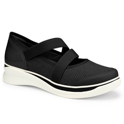 Tênis Assandalhado Confortável - Preto - CAL7501-0001PT - Pé Relax Sapatos Confortáveis
