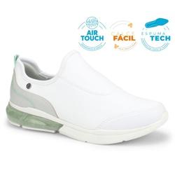 Tênis c/ Amortecedor para Esporão e Fascite - Branco - CAL7521BR - Pé Relax Sapatos Confortáveis