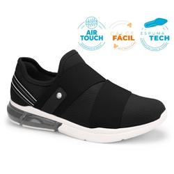 Tênis c/ Amortecedor para Esporão e Fascite - Preto - CAL7522-0002PT - Pé Relax Sapatos Confortáveis