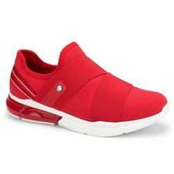 Tênis c/ Amortecedor para Esporão e Fascite - Vermelho - CAL7522-0001VM - Pé Relax Sapatos Confortáveis
