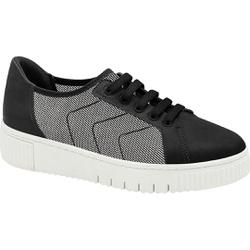 Tênis Comfort Fascite e Esporão - Preto / Branco - MA858004PT - Pé Relax Sapatos Confortáveis