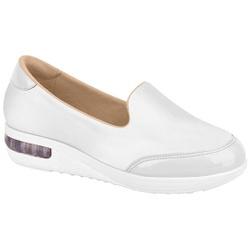 Tênis c/ Amortecedor para Esporão e Fascite - Branco - MO7320201BR - Pé Relax Sapatos Confortáveis