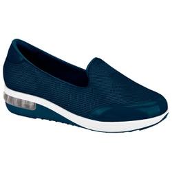 Tênis c/ Amortecedor para Esporão e Fascite - Azul - MO7320-201AZ - Pé Relax Sapatos Confortáveis