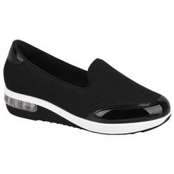 Tênis c/ Amortecedor para Esporão e Fascite - Preto Liso - MO732020119161PT - Pé Relax Sapatos Confortáveis